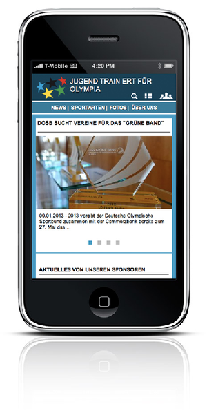 Screendesign Responsive Design für mobiles Endgerät
